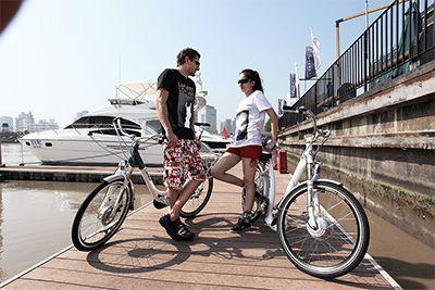 潮流自行车外景拍摄