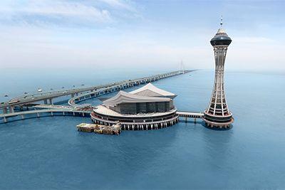 杭州湾跨海大桥航拍(5D2单反)
